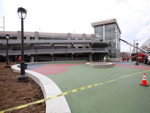 The zoo's latest parking garage, to open Friday | photo: David Swanson, philly.com