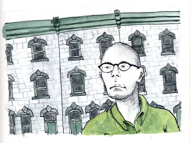 Kenny Grono on Fairmount Ave | Illustration: Ben Leech
