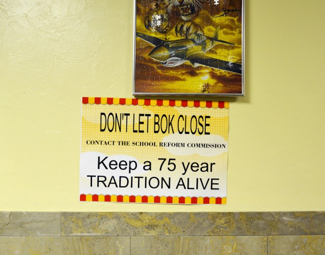 In-school sentiment: a sign at Bok Tech laments the inevitable | Photo: Katrina Ohstrom