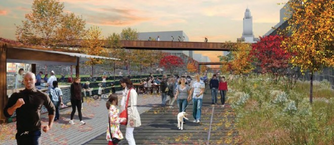 At Community College of Philadelphia, looking east | Image: Friends of the Rail Park
