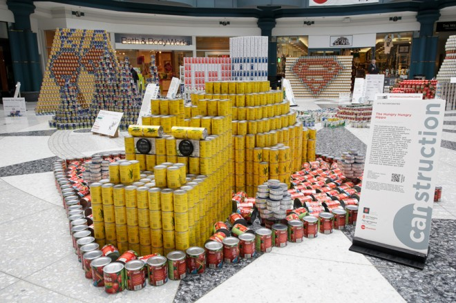 """Hungry Hungry Hippo,"" by STV Incorporated, winner of most cans 