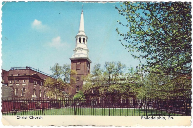 Christ Church Collectible at the Bicentennial   Postcard by Art Color Cards, 1976