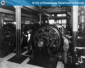 Wielding power at City Hall: the dynamo room, early 20th century | Image: PhillyHistory.org