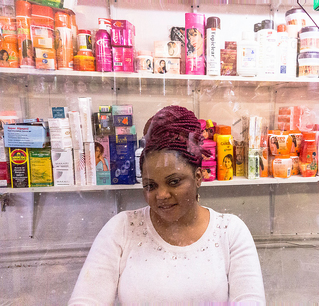 Marie Brown at Liberian Merry-Go-Round Grocery Market | Photo: Theresa Stigale