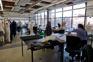 Fashion Design students, busy making at URBN Center | Photo: Bradley Maule