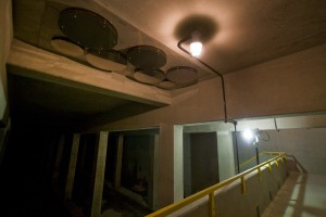 Air vents on the ceiling will help relieve the storage basin of sewage runoff of its...aroma | Photo: Bradley Maule
