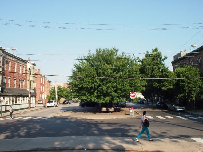 Fourth and Bainbridge Streets, looking west   Photo: Nathaniel Popkin