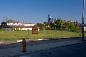 Spring at last: the current empty lot at 27th & Girard | Photo: Bradley Maule