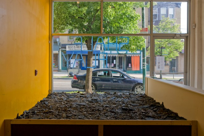 Shale Play, on display at Next City Storefront for Urban Innovation | Photo: Bradley Maule