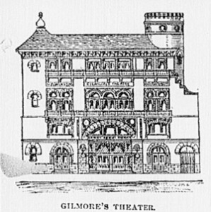 Gilmore's Theater, the fifth and final playhouse at 807 Walnut | Image via The Roanoke Times, February 1893