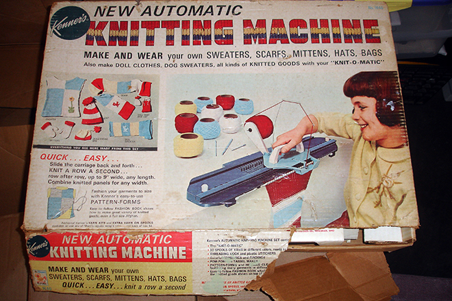 50s era home knitting machine Dahlgren purchased on eBay | Photo: Joseph G. Brin