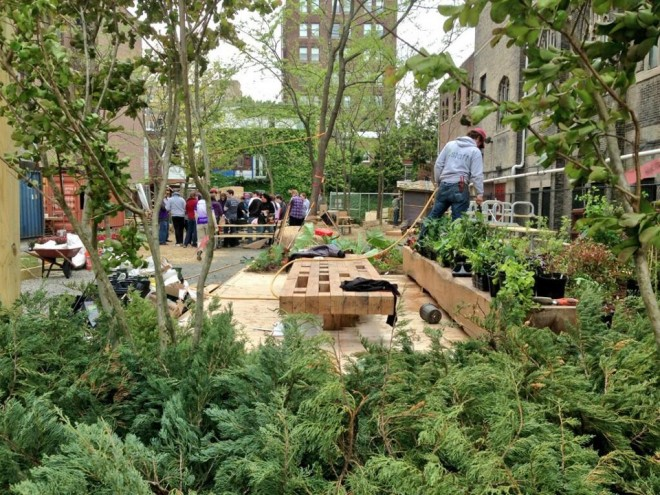South Broad Street's newest (temporary) green space: Pop Up Garden | Image: University of the Arts (Facebook)