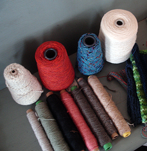 Spools of new yarn for the project | Photo: Joseph G. Brin