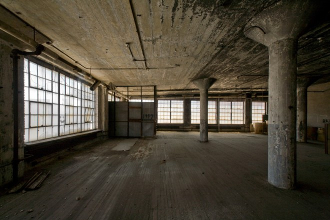 The now-unoccupied fourth floor of 15 South 11th Street is a veritable concrete fortress | Photo: Bradley Maule