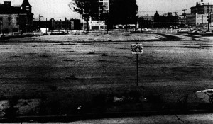 Melon Site, circa 1974. Notice the Zoar Methodist Church still standing in left background   Image:  Playgrounds for Free, by Paul Hogan