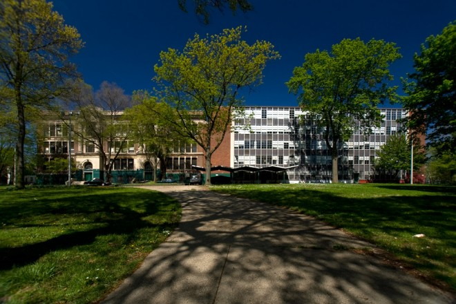 Generations of architecture, generations of alumni, of historic Germantown High, closing today   Photo: Bradley Maule