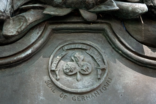 Vinum, Linum et Textrinum: the great Seal of Germantown | Photo: Bradley Maule