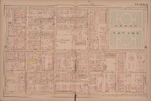 Those blueprint maps were probably based in part on the Bromley maps, like this one from 1885