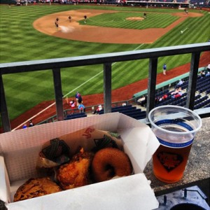 A taste of Philadelphia: Federal Donuts' Ballpark BBQ chicken, Victory Hop Devil IPA | Photo: Bradley Maule