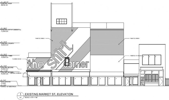 Existing Market Street elevation | Image: Coscia Moos Architecture