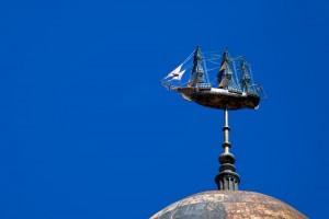 Weathering the storm: the weathervane atop the Provident | Photo: Bradley Maule