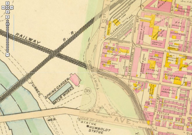 Back when it was really Brewerytown. Five years after 33rd Street superstructure's completion | 1910 Philadelphia Atlas, G.W. Bromley via PhilaGeoHistory.org