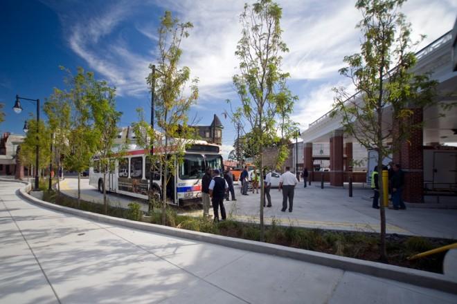 Lean & green: SEPTA's new bus loop at 33rd & Dauphin | Photo: Bradley Maule