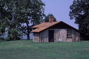 Grant's Cabin, relocated from Petersburg, Virginia to Fairmount Park after the Civil War, relocated back to Virginia in the 1930s | Photo: NPS, Petersburg National Battlefield