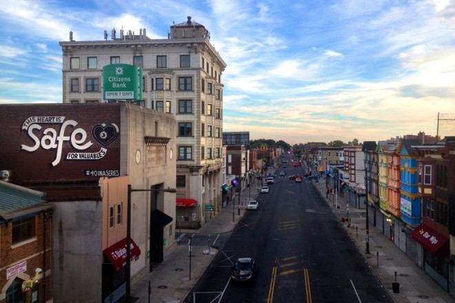 Tower over West Philly's main street | Photo: Bradley Maule