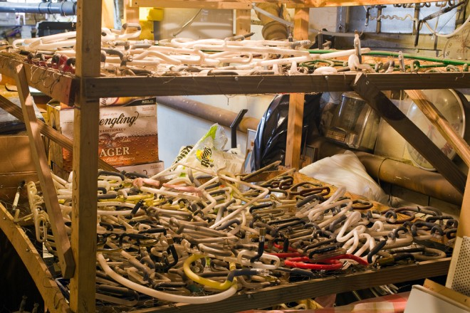 Davidson's basement workshop | Photo: Peter Woodall