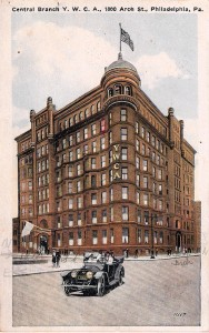 Central Branch Y.W.C.A. postcard published by P. Sander, Philadelphia & Atlantic City for Sander's Art Series