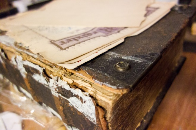 Antique Book Awaiting Restoration   Photo: Theresa Stigale