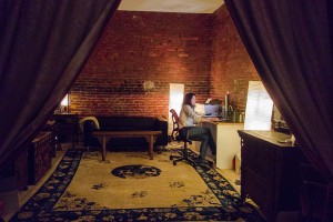 Bridget Morris in her private office, a former biscuit oven   Photo: Theresa Stigale