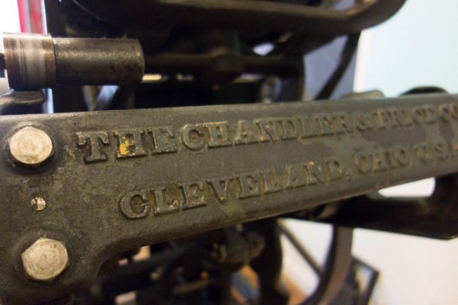 Chandler & Price Letterpress, c. 1910, most were made in Ohio from 1881 to 1964   Photo: Theresa Stigale