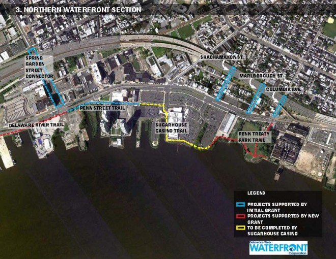 North section of plan | Image: Delaware River Waterfront Corporation