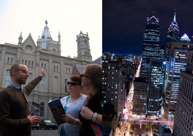 "Left: David Bender, Right: ""Modern Metropolis"" | Photos courtesy of DesignPhiladelphia"
