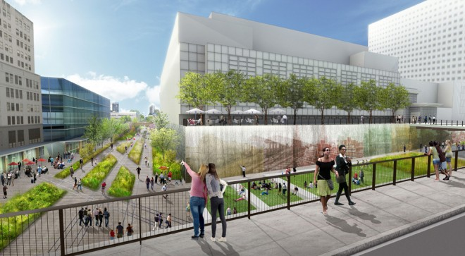 Rail Park conceptual rendering | Image courtesy of OLIN