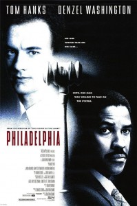Original poster for Jonathan Demme's Philadelphia, 1993