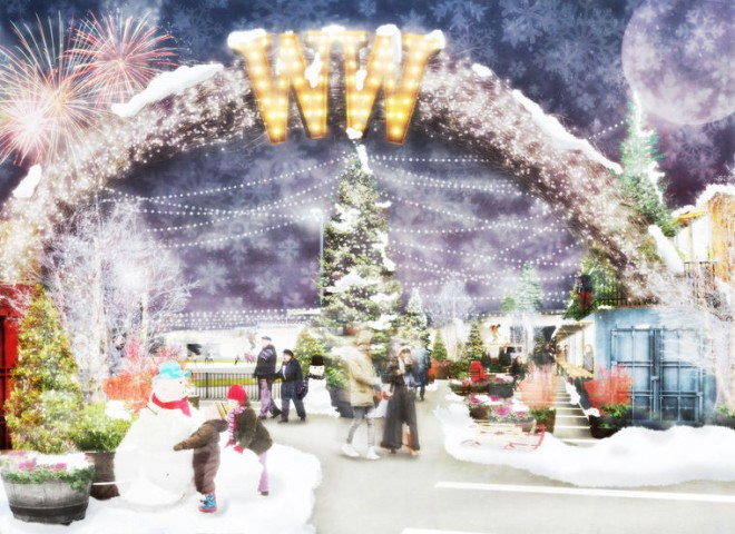 Rendering of Pop-Up Waterfront Winterfest | Image courtesy of DRWC