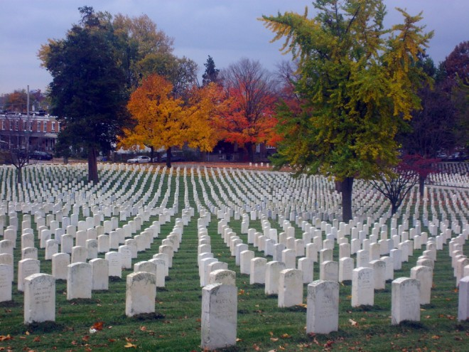 Fall foliage at Philadelphia National Cemetery | Photo: Matthew Szalwinski