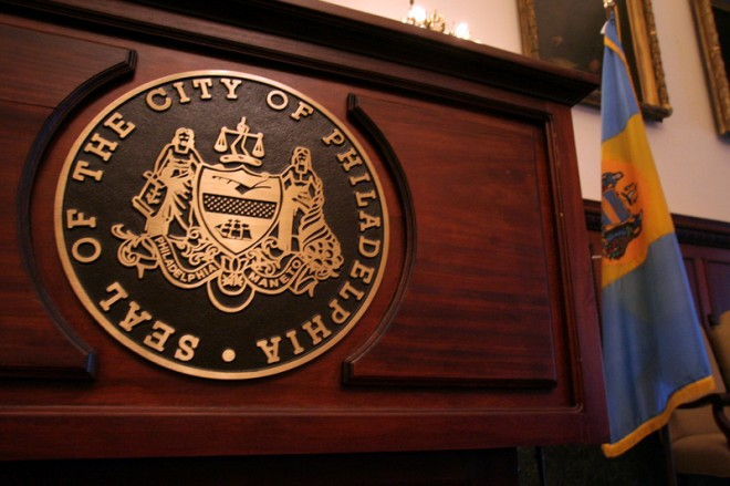 The Mayor's lectern features a symbol without 1701, for in fact, the City was founded in 1683 | Photo: Bradley Maule