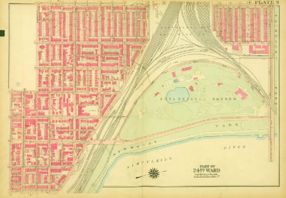 ATLAS OF THE CITY OF PHILADELPHIA (WEST PHILADELPHIA), 1927 (from Flying Kite Media)