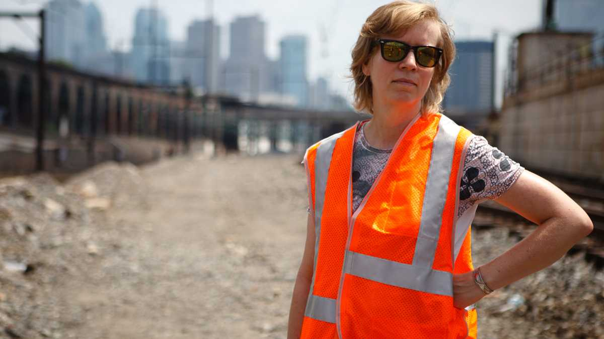 """""""Katharinia Grosse visits the project in the summer."""" 