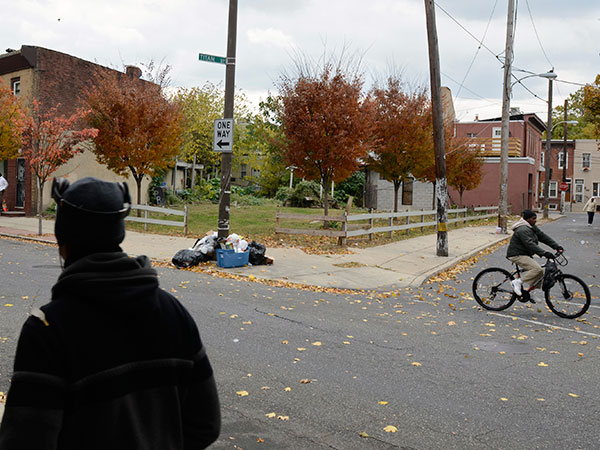 The vacant lot at Point Breeze Avenue at Titan Street, by Tom Gralish for the Inquirer