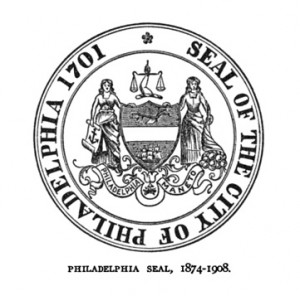 "Colonel Etting's circa-1874 seal, now with ""1701"" 