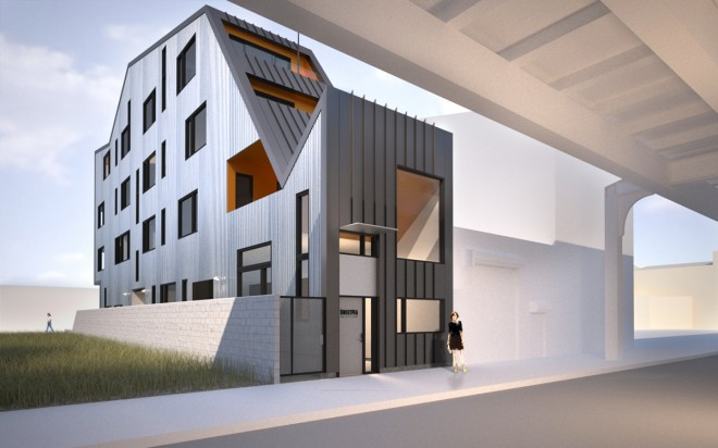 Rendering of proposed building at 1312 N. Front St. | Image: Interface Studio Architects