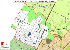 The Central Northeast | Map: Philadelphia City Planning Commission