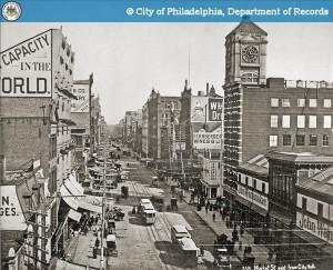 The John Wanamaker store at the Grand Depot on Market Street, circa 1890 | Image: PhillyHistory.org