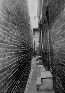 Primary Entrances of Pedestrian Alley Dwellings, Philadelphia, Pennsylvania | Image via Housing Conditions in Philadelphia, Emily W. Dinwiddie, Philadelphia, 1904.