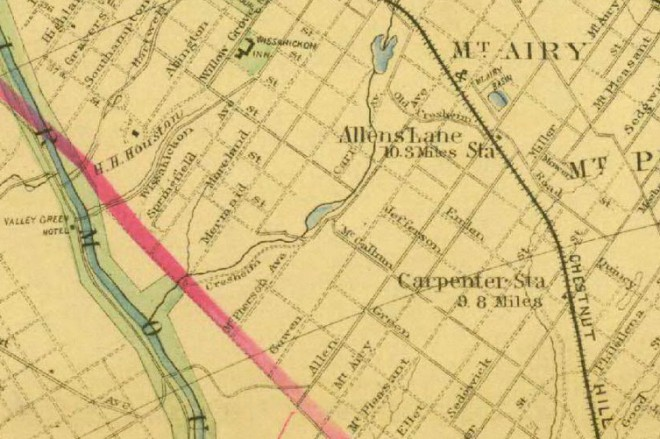 Detail of Baist's Map of Philadelphia and Environs, 1889 | Accessed via PhilaGeoHistory.org